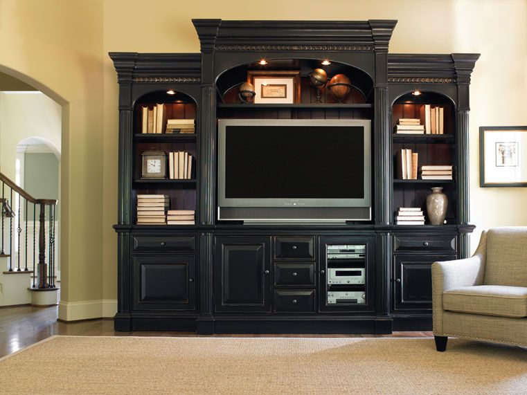 Norwood Furniture Store Of Gilbert Arizona: New Castle II Rich Rubbed Black  Entertainment