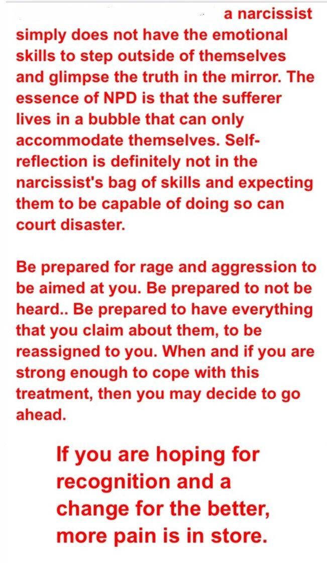 Confronting a narcissistic person