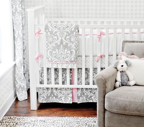 Your Emma Damask Crib Bedding Set Here Inspire Sophisticated Nursery With The Baby Featuring An Elegant Pattern In
