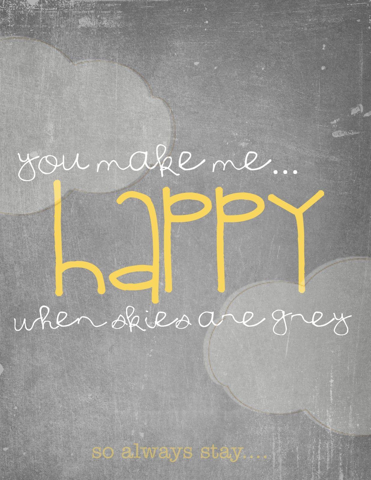 FREE printable - You are my sunshine ( you make me happy ...