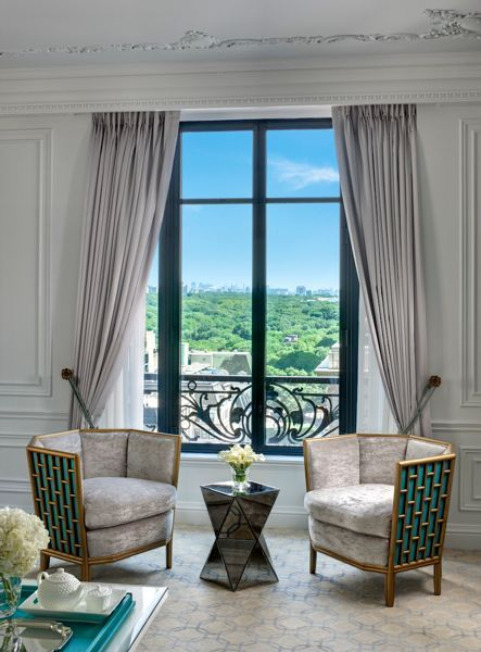 Fretwork Lounge Chairs by Barbara Barry for McGuire Furniture (Tiffany Suite @ St. Regis)