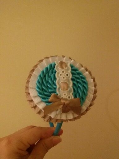 Diadema turquesa camel