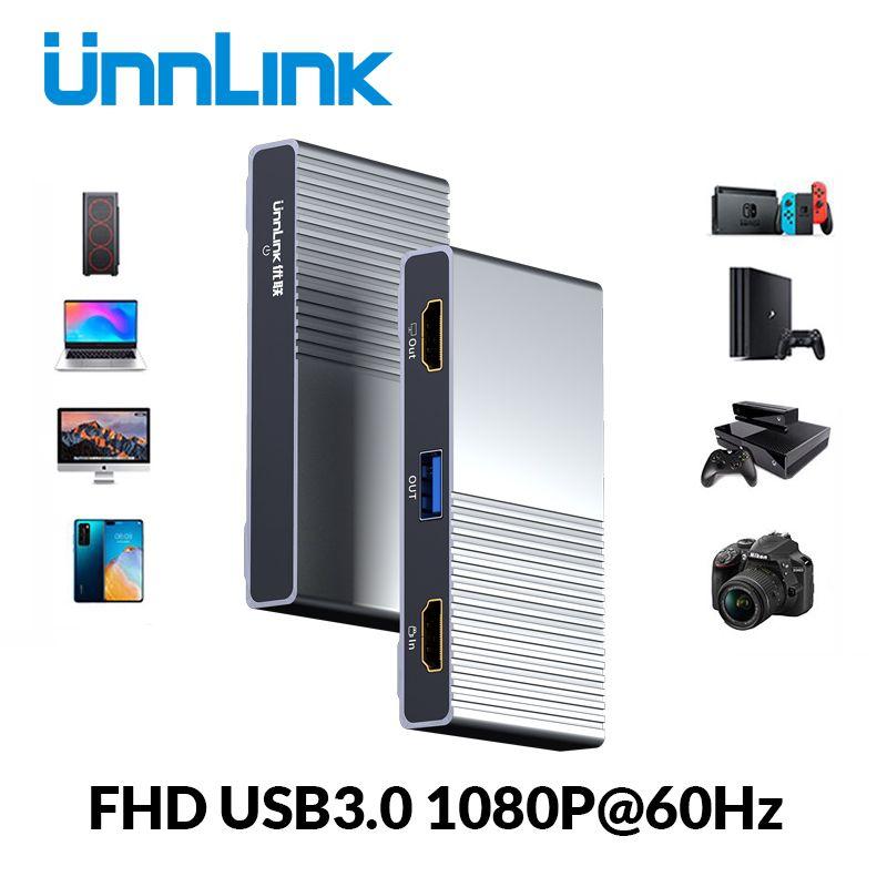 Unnlink USB3.0 Game UVC Capture Card Video Capture 1080P
