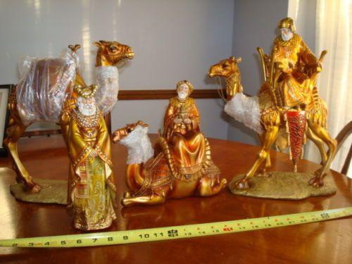 New Stunning Golds 3 Wiseman & Camel Gold Dept 56 Large WIsemen 797075 wise men
