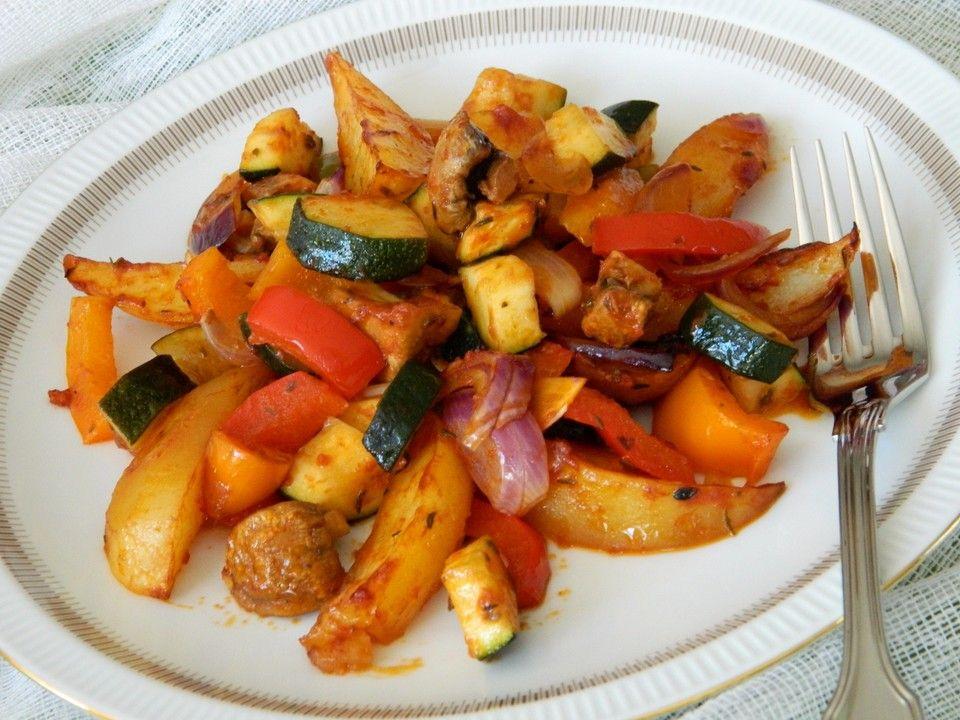 mediterrane kartoffel gem sepfanne kochen pinterest gem se kartoffel und gem sepfanne. Black Bedroom Furniture Sets. Home Design Ideas