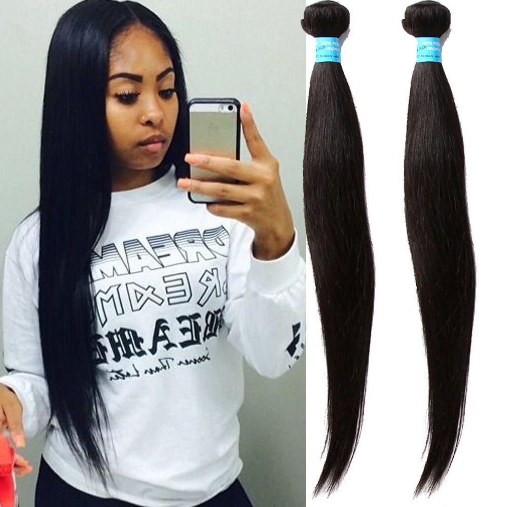 300g 161820 Real Human Hair Extension Full Head Black Silky