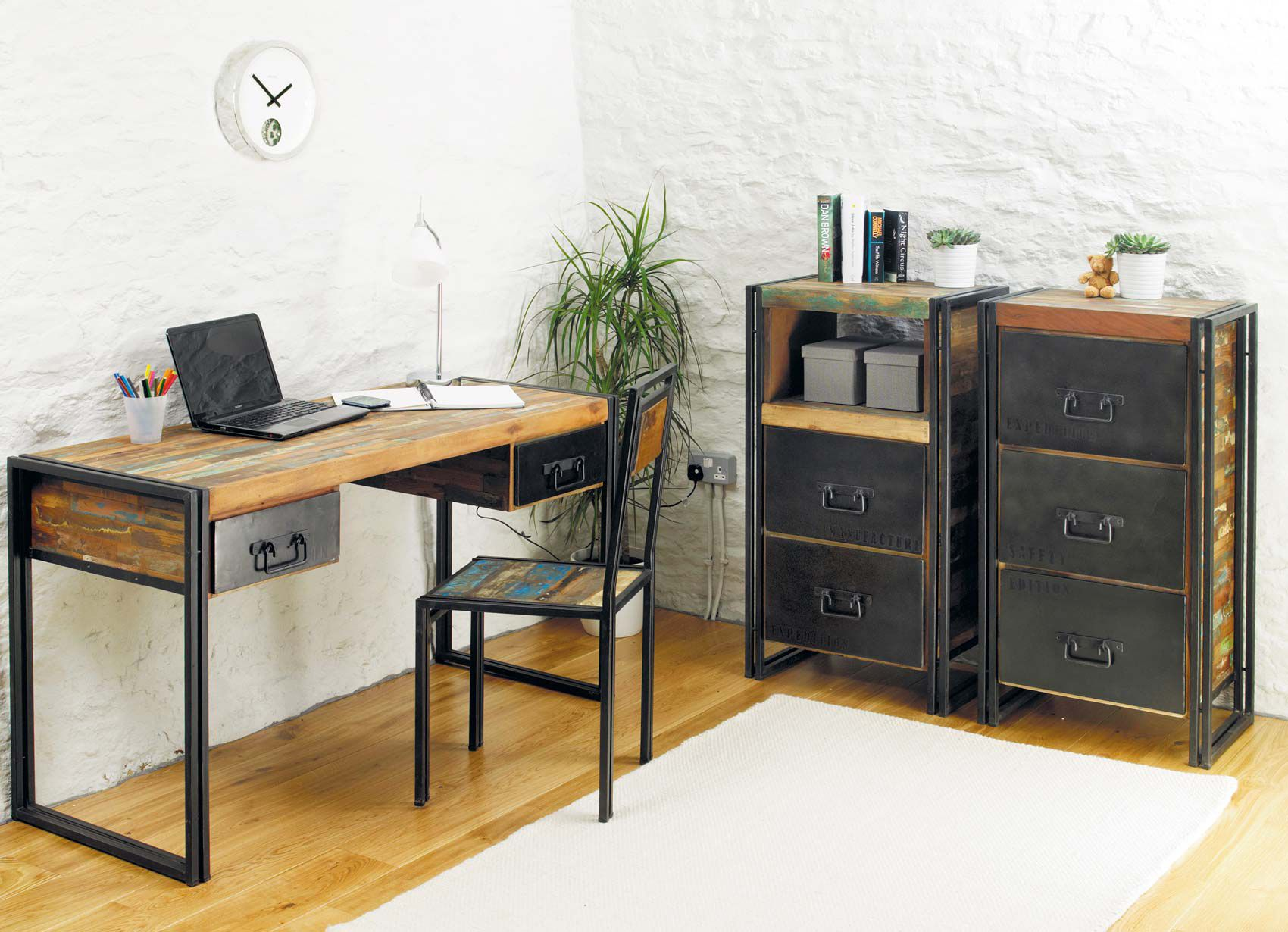 industrial chic furniture sets for office  office  pinterest  - industrial chic furniture sets for office