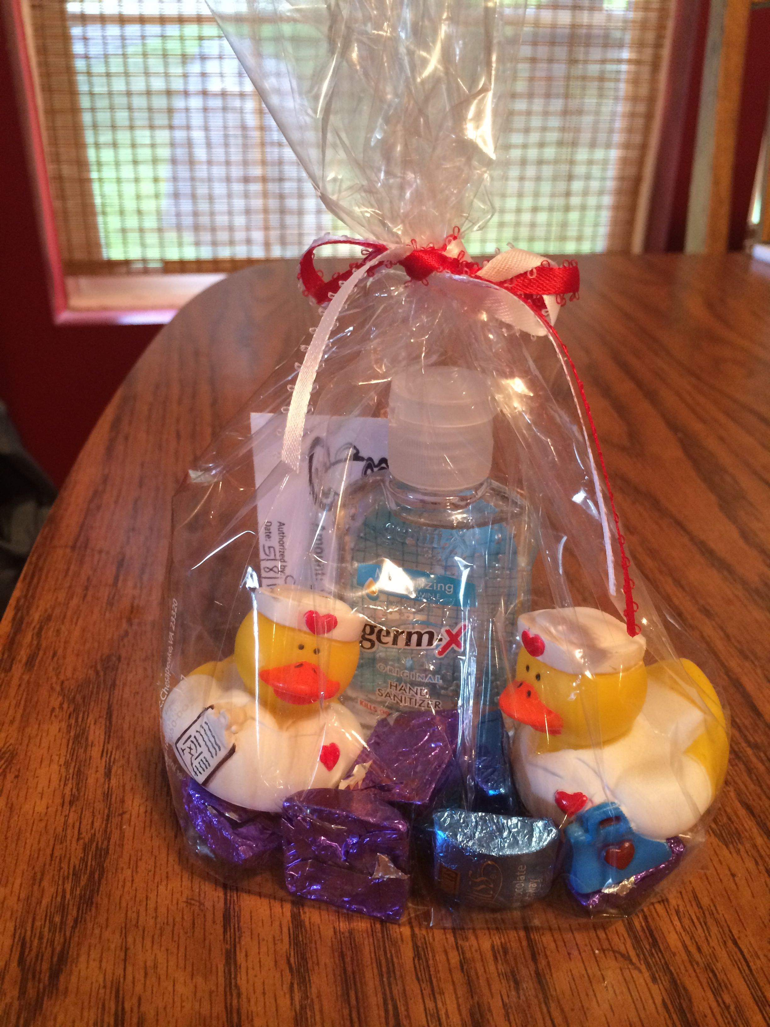 Nurse Themed Gift Bag Rubber Ducks Nurse Themed Hand Sanitizer