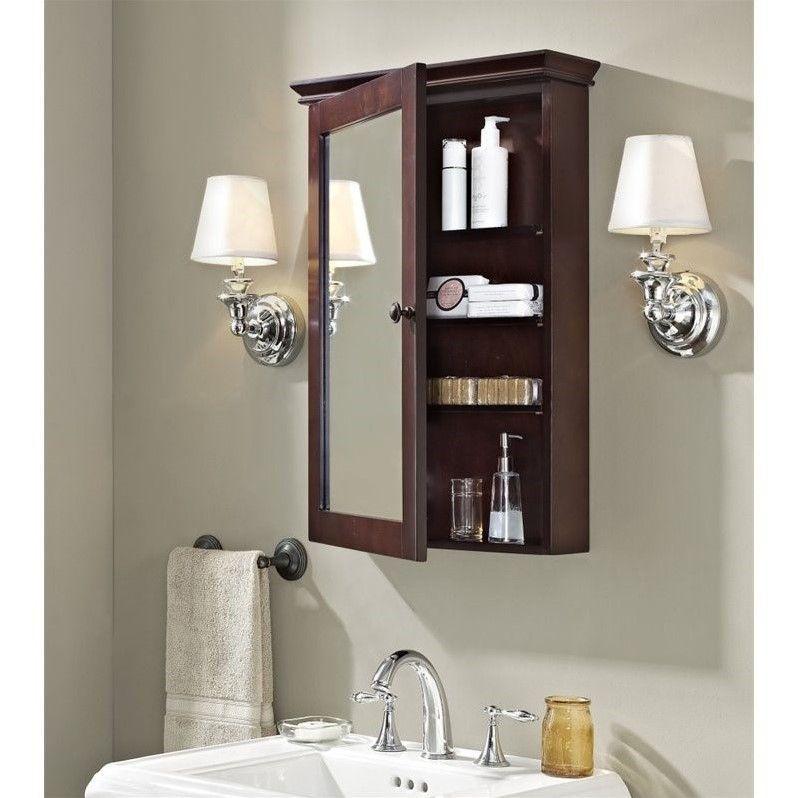 Crosley Lydia Mirror Medicine Cabinet In Espresso Small Bathroom Decor Crosley Furniture Wall Cabinet