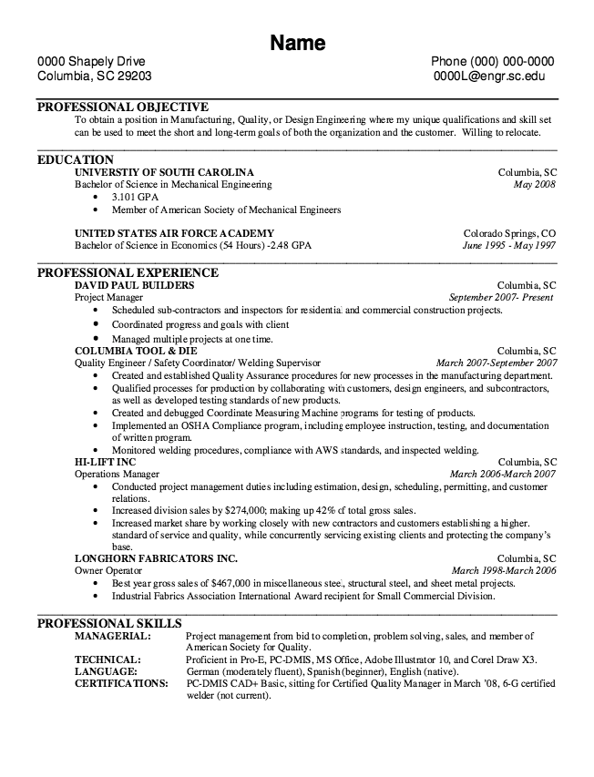 Welder Resume Example Of Owner Operator Resume  Httpexampleresumecv