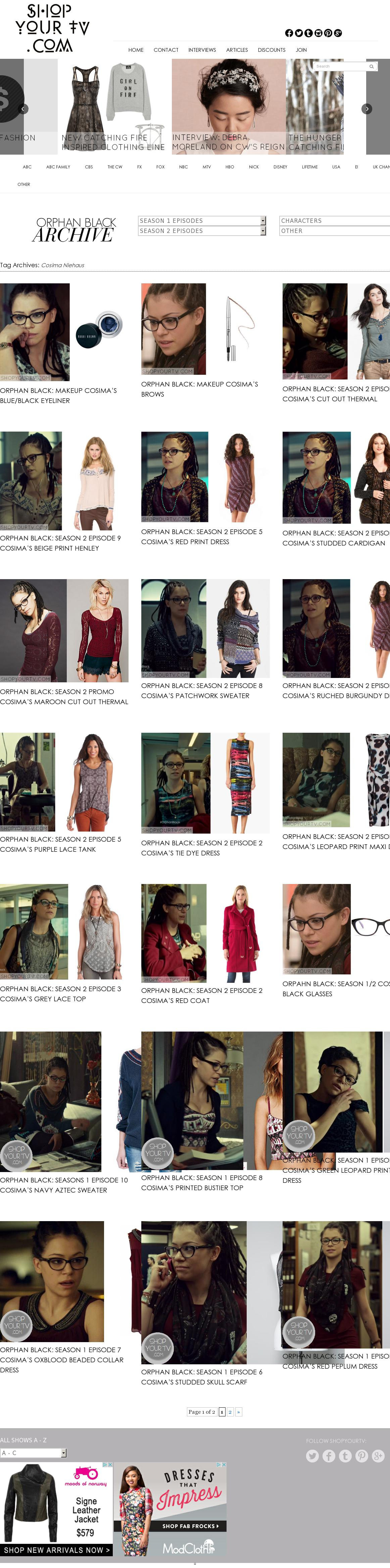 Cosima Niehaus Of Orphan Black Fashion Items Directory The Website