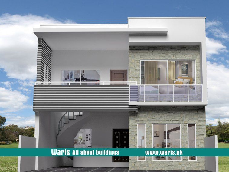 Waris marla house  view elevation  in islamabad pakistan modern exterior designs also the best houses images on pinterest rh