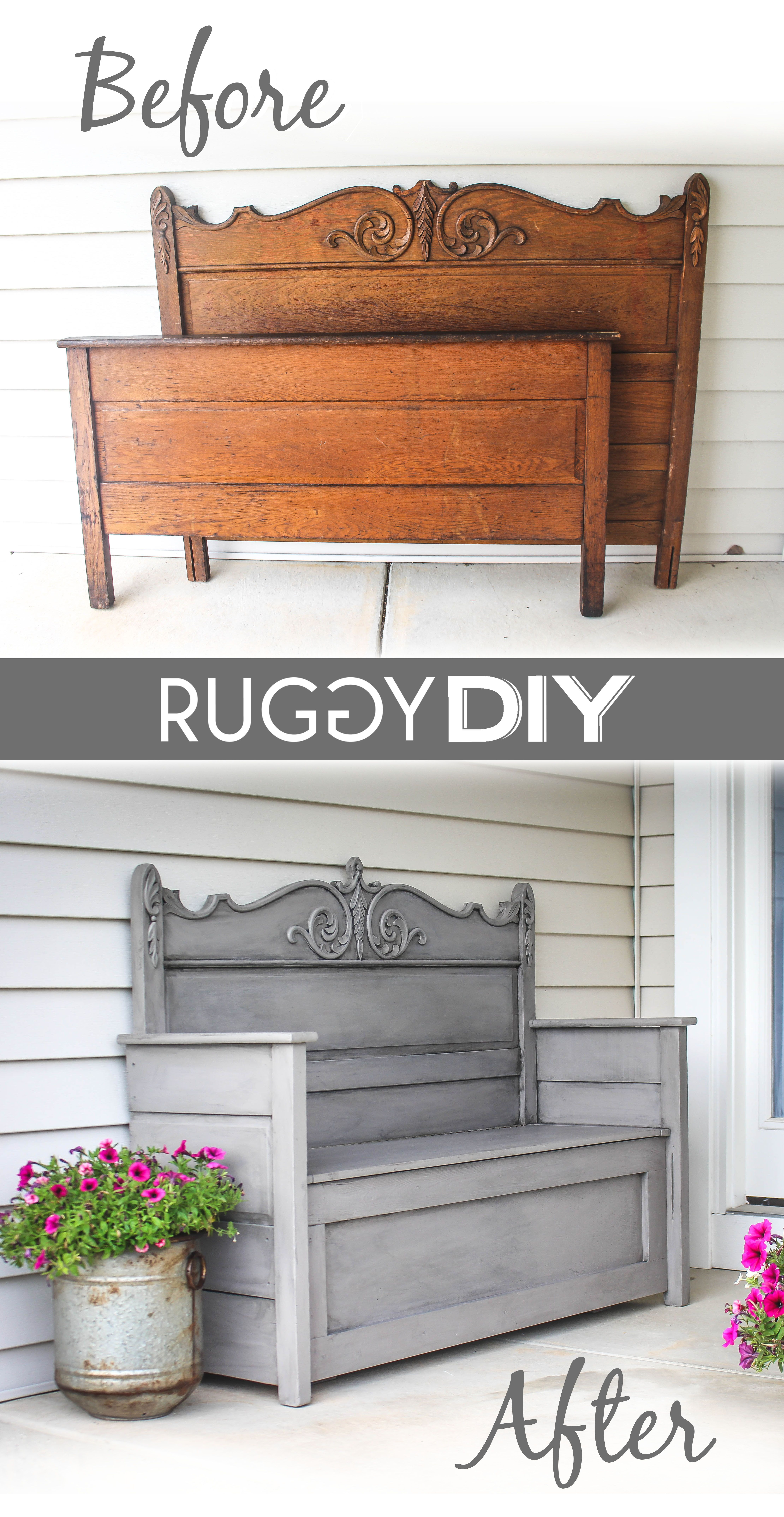Photo of Repurposed Headboard Bench