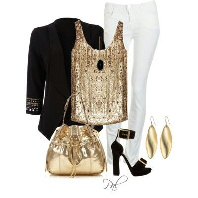 I Know I Soooooo Can Pull This Off Nureen Black Gold Outfit