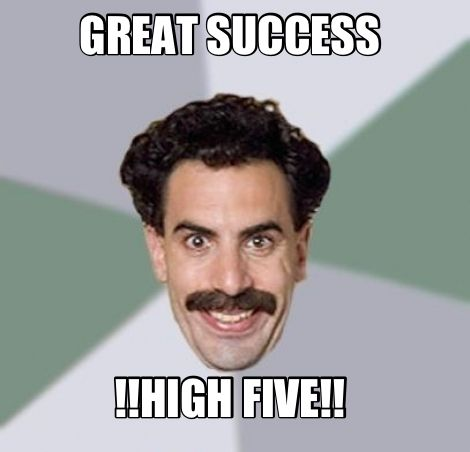 Great Success High Five Movie Quotes Make Me Laugh Funny Me