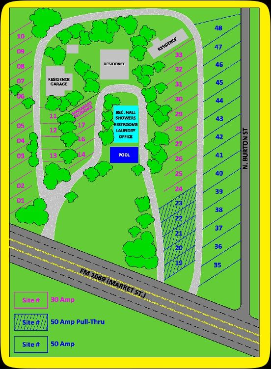 Route 1069 Rv Park Layout Rockport Texas 25 Night 30