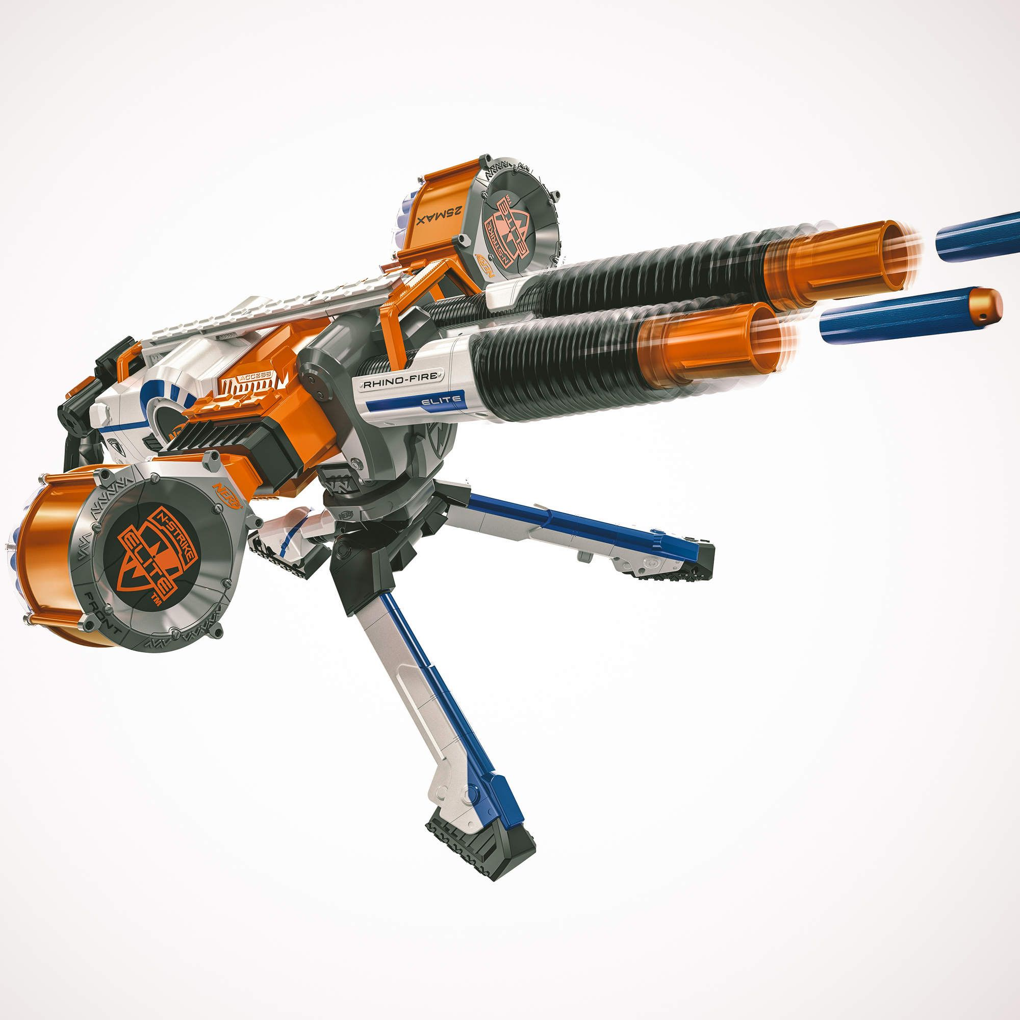 Double-barrel Nerf rail gun. Damn.