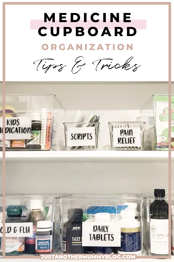 How To Organize Your Medicine Cabinet #organizemedicinecabinets