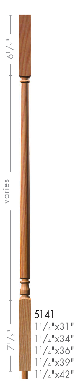 Best 5141 36 Colonial Style Square Top Baluster Wood 400 x 300