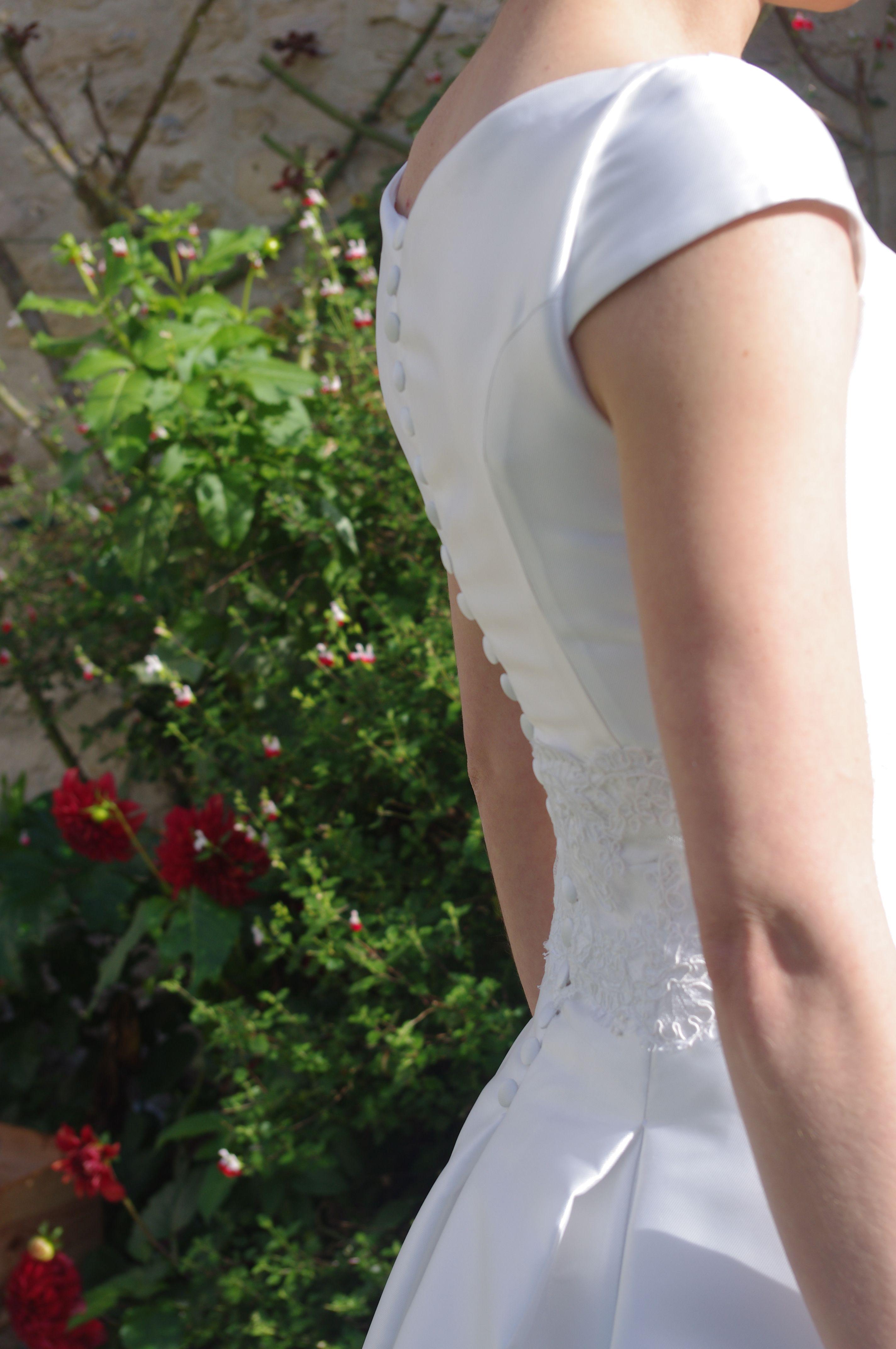 9a36cfcfeae Amicie G. Véronique robe de mariée en mikado de soie