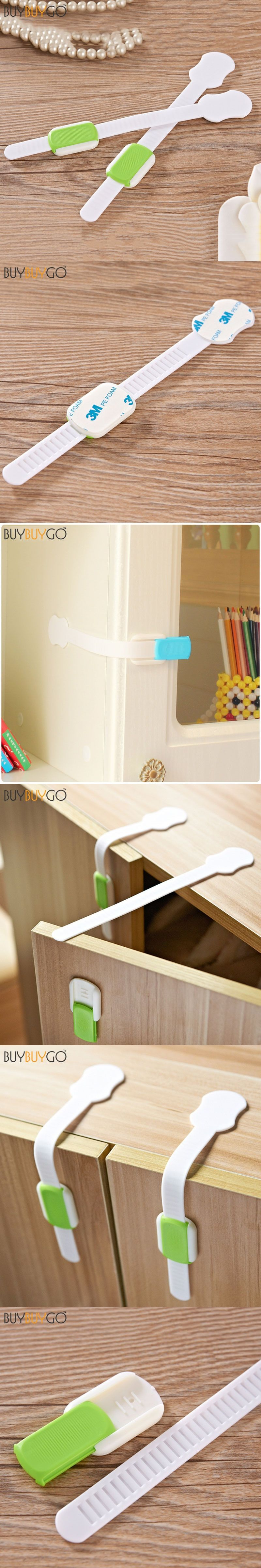 10Pcs Lengthened Bendy Baby Safety Locks Cabinet Drawers