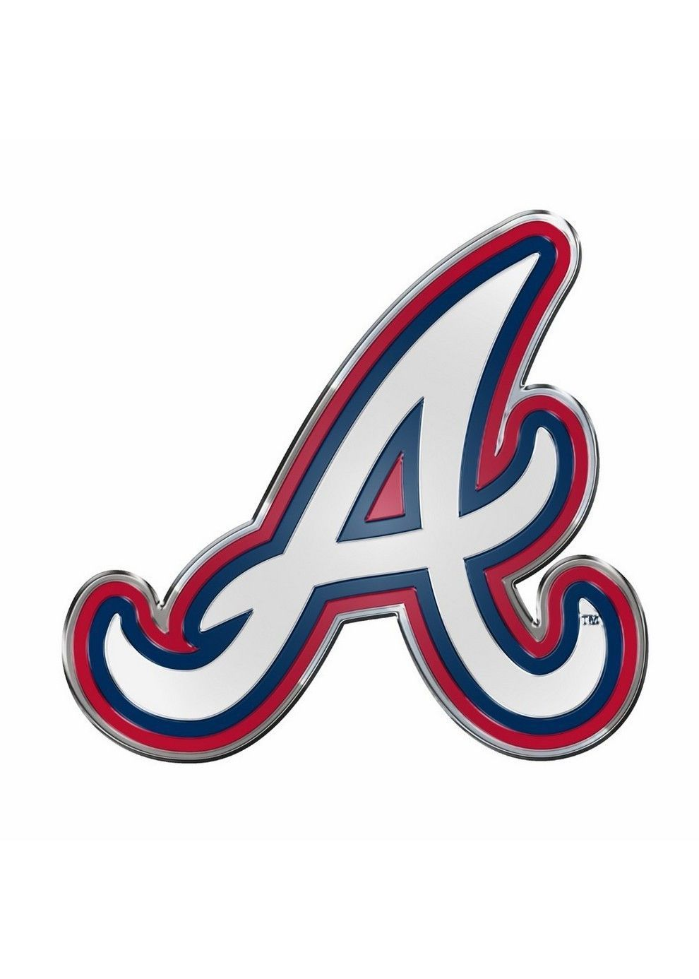 Atlanta Braves Color Auto Emblem Atlanta Braves Wallpaper Atlanta Braves Braves