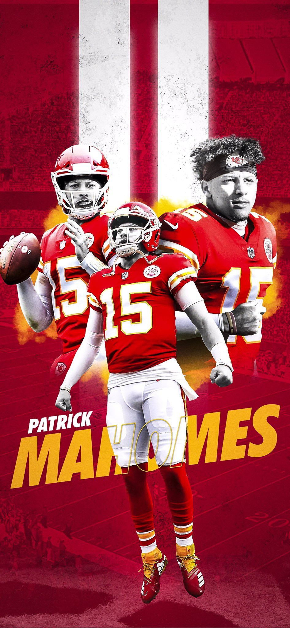 Mahomes Mobile Wallpaper In 2020 Chiefs Football Chiefs Wallpaper Kc Chiefs Football