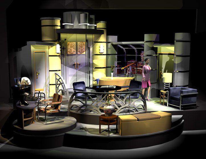 Light up the sky. aurora fox theatre company. rendering designed