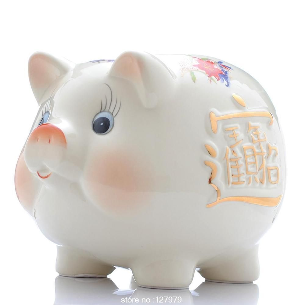 Ceramic piggy bank, piggy, creative gift decoration, lovely, felicitous wish of making money ~ //Price: $14.95 & FREE Shipping //     #hashtag1