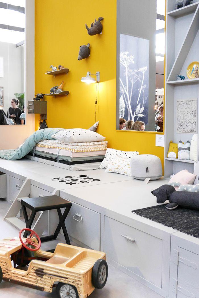 Habitacin infantil moderna y cool con espacios