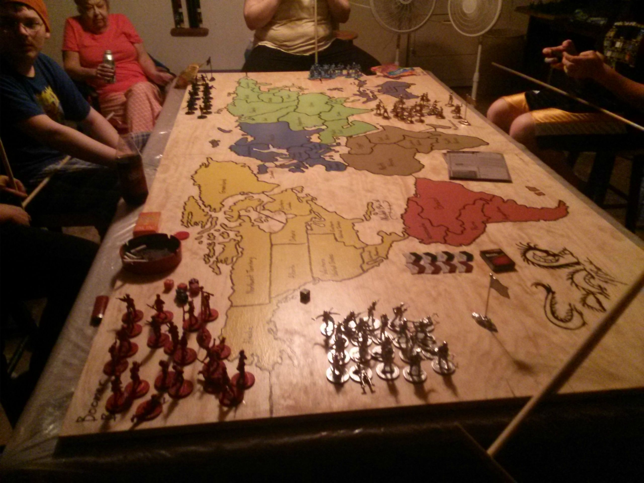 Dad Builds Epic Risk Table For His War Room Board