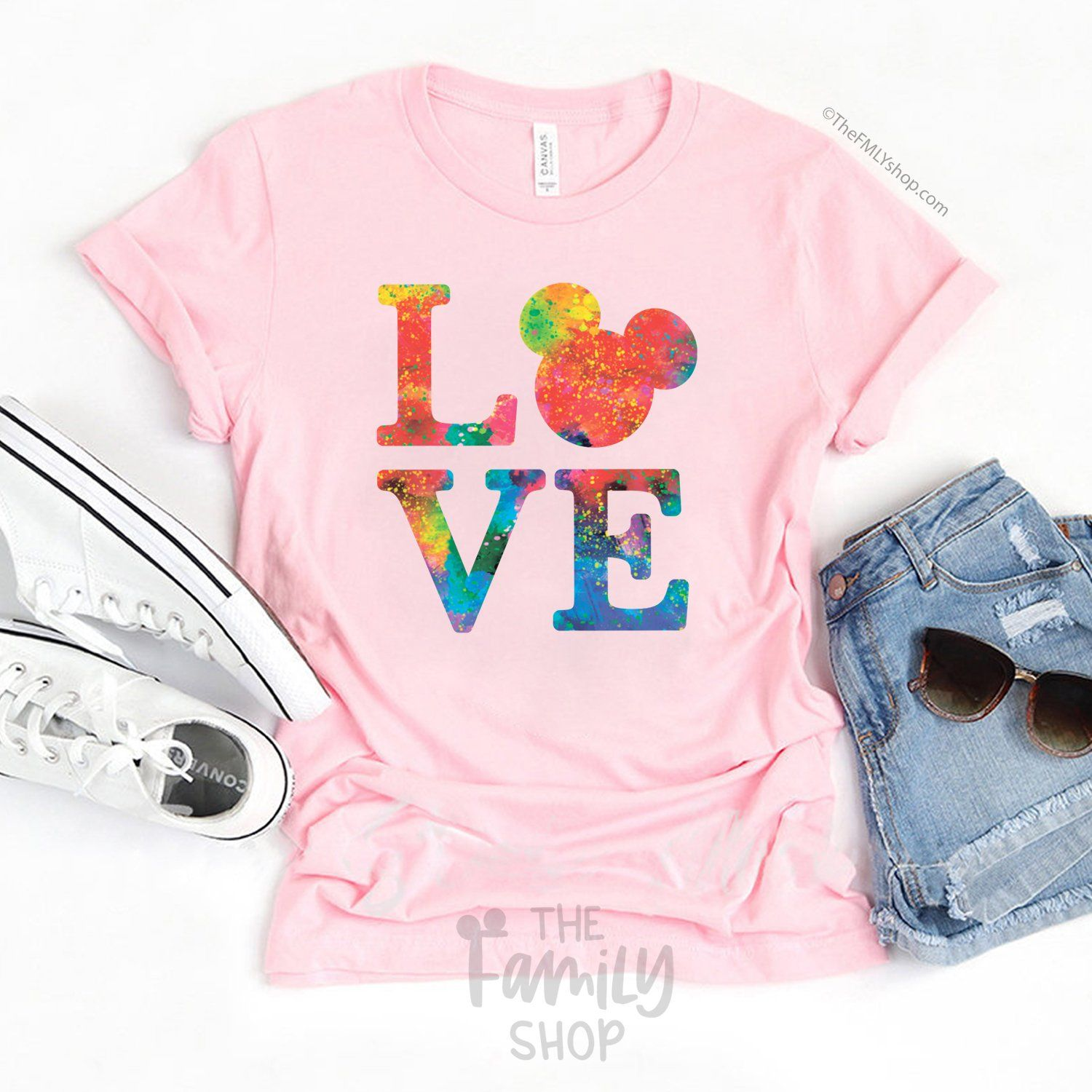 Love Watercolor Disney Shirt Disney Shirts Watercolor Disney