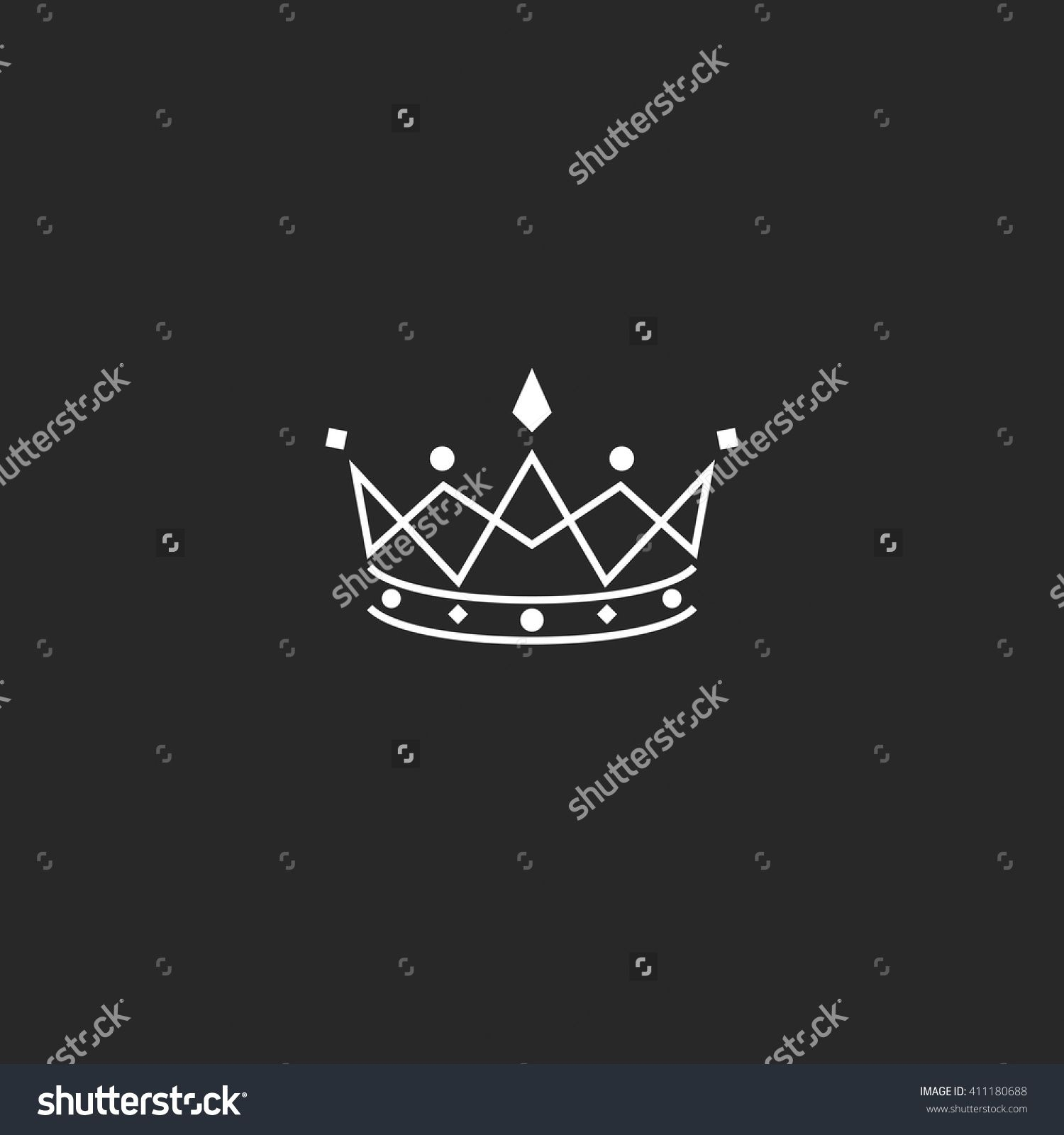 Royal symbol icon, monogram crown logo, beauty tiara princess ...