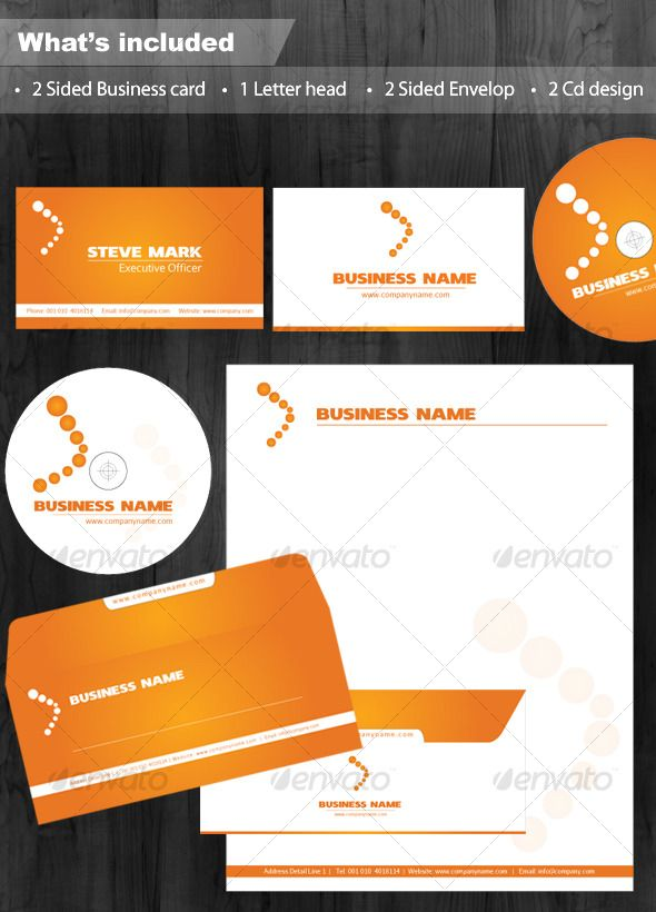 Clean Executive White & Orange Corporate Identity — Vector EPS #simple #elegant business card • Available here → https://graphicriver.net/item/clean-executive-white-orange-corporate-identity/119330?ref=pxcr