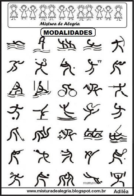 Modalidades Jogos Olimpicos 2016 Imprimir Jpg 464 677