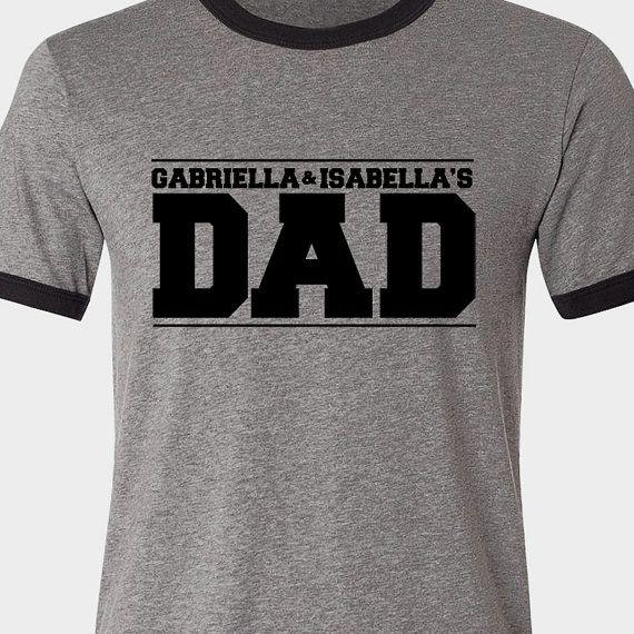 adb69ecb9 Customized dad shirt personalized with kids names by zoeysattic, $26.50