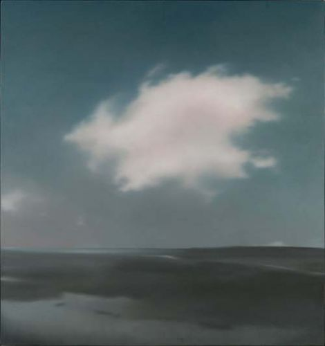 Gerhard Richter:  Landschaft mit Wolke/ Landscape with Cloud, 1969  91 cm x 86 cm Oil on canvas