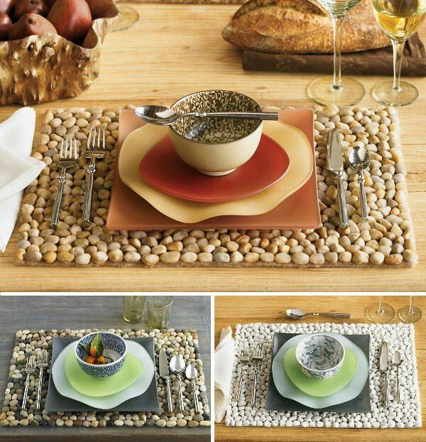 Stone Table Runner Placemats Diy Diy Placemats Placemats Eco