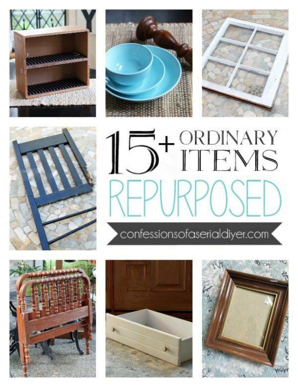 Photo of 15+ Ordinary Items Repurposed | Repurposed, Repurposed furniture, Repurposed items