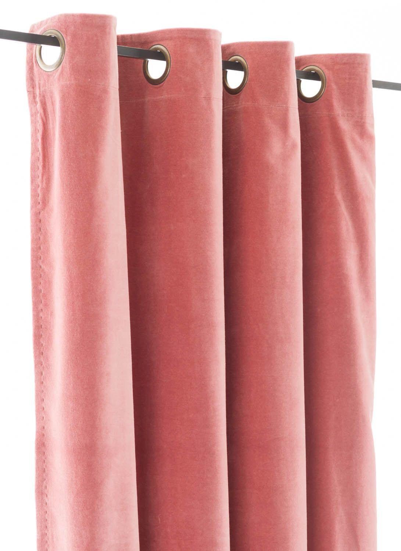 En fil dindienne rideaux en velours lyric rose poudre 140x280 cm nouveaux produits home - Salon rose poudre ...