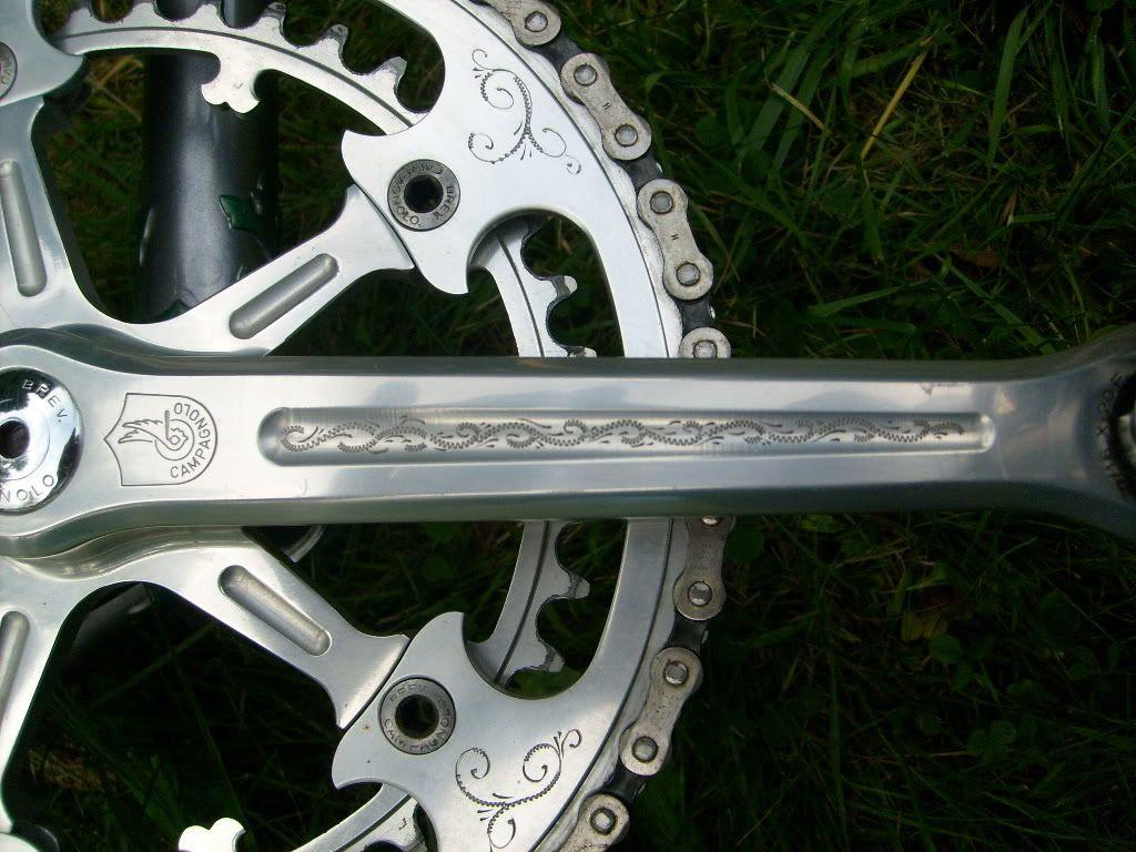 Detail (Engraved Campagnolo Crankset)