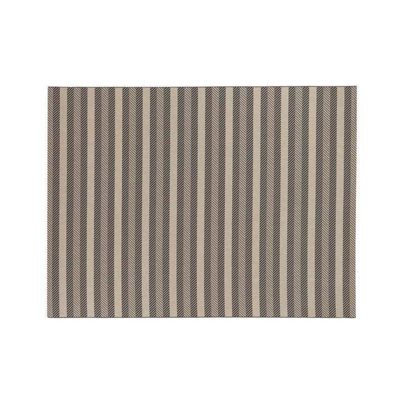 Koen Chevron Indoor-Outdoor 9'x12' Rug  | Crate and Barrel