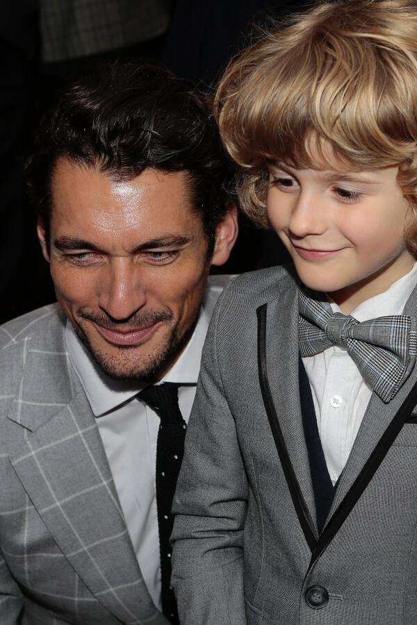 OMG! Gandy and Child *boom*  walterlan Papetti @WalterlanP  6m David Gandy attending M&S after party LCM SS15