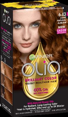 Olia Ammonia Free Light Natural Auburn Hair Color Garnier Tintes De Cabello Cabello Ondulado Y Rizado Color De Pelo Permanente