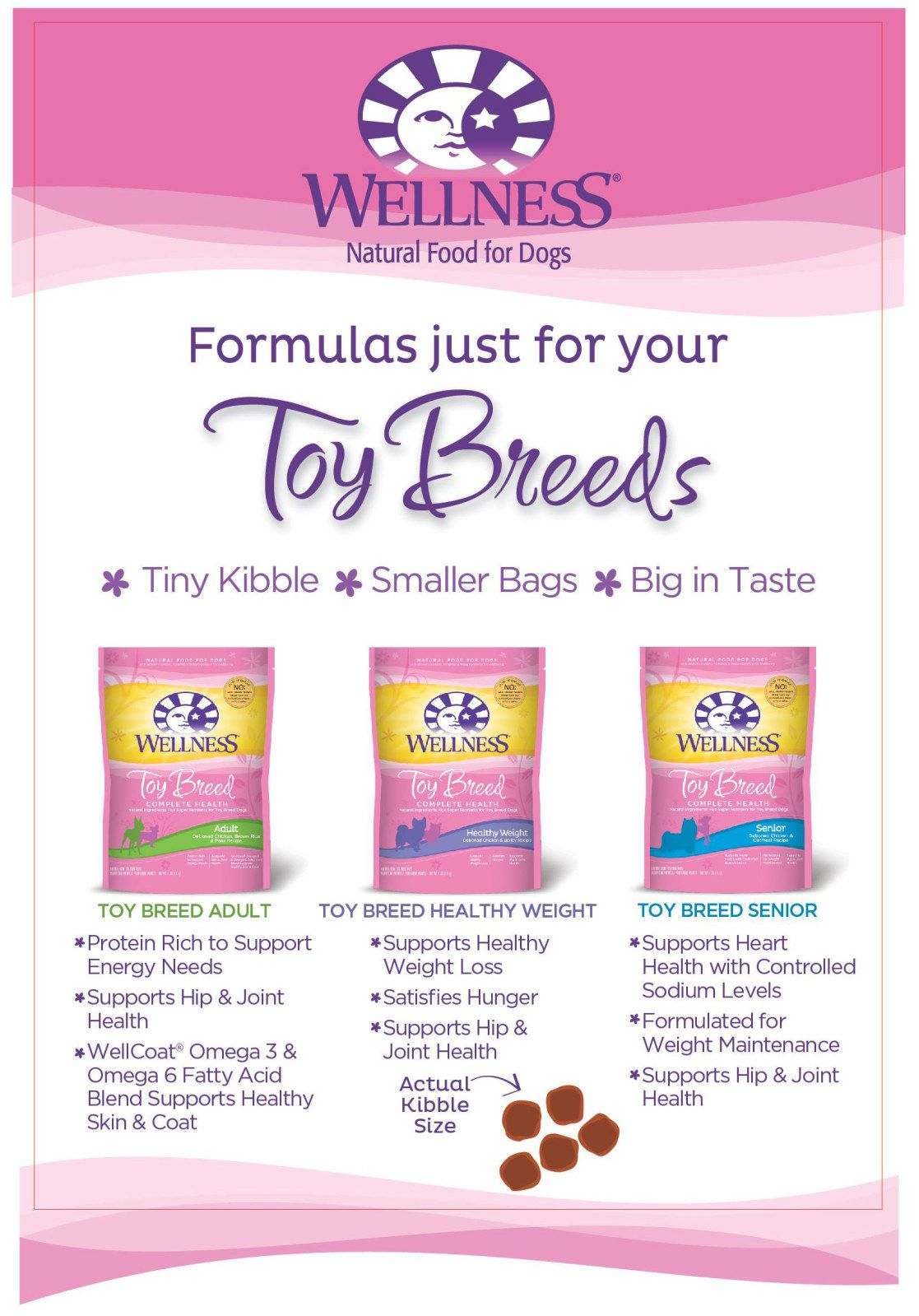 Wellness Natural Pet Food Toy Breed Recipes Are Tailored To Toy