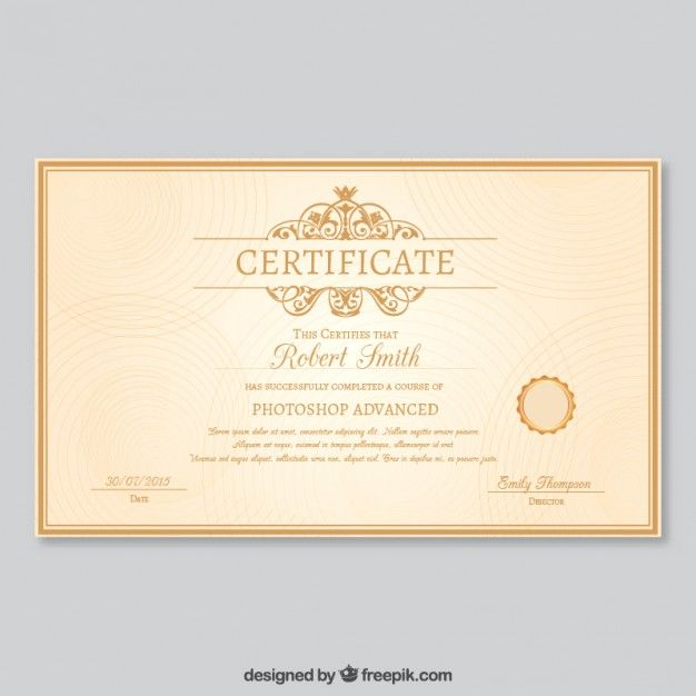 Plantilla de certificado Elegante Vector Gratis Certificados y - free templates for certificates of completion