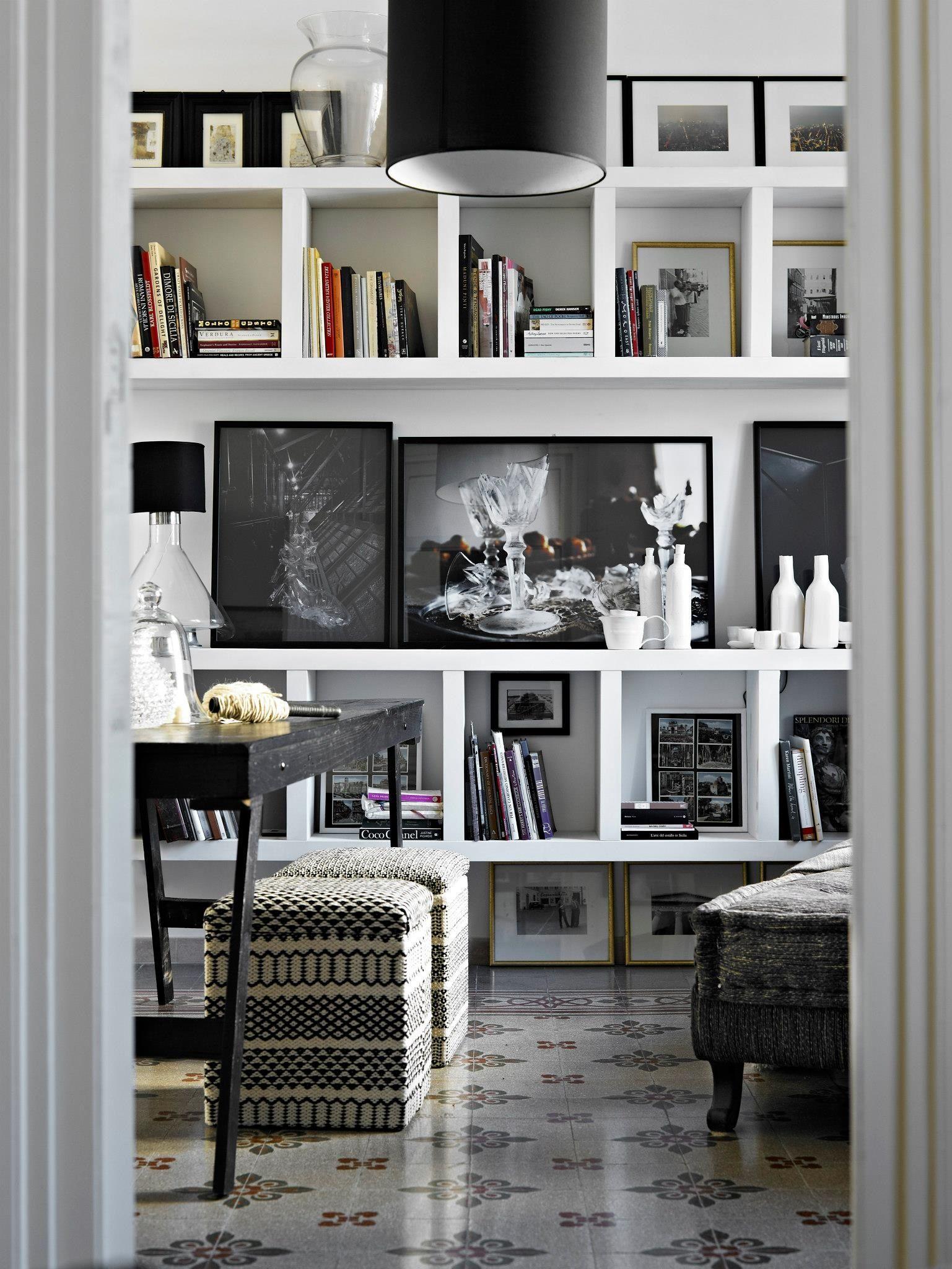 Elle decoration december 2012 home decor shelves white