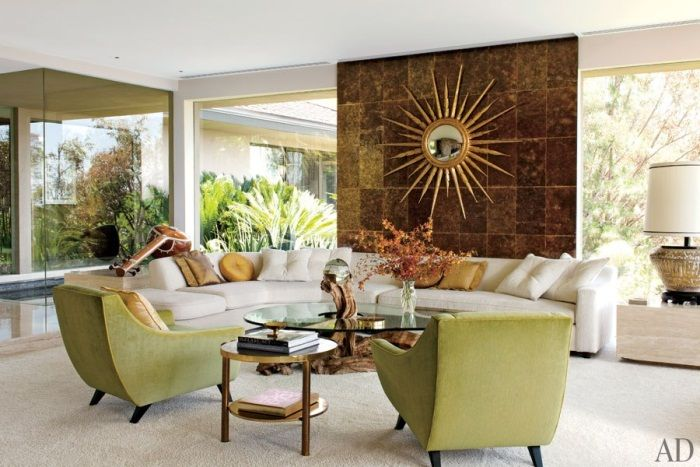 Palm Springs Mid Century Modern Interior Design Characteristics Living Room