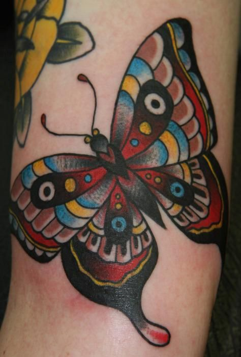american traditional tattoo designs traditional butterfly tattoo design thumbnail tattoos. Black Bedroom Furniture Sets. Home Design Ideas