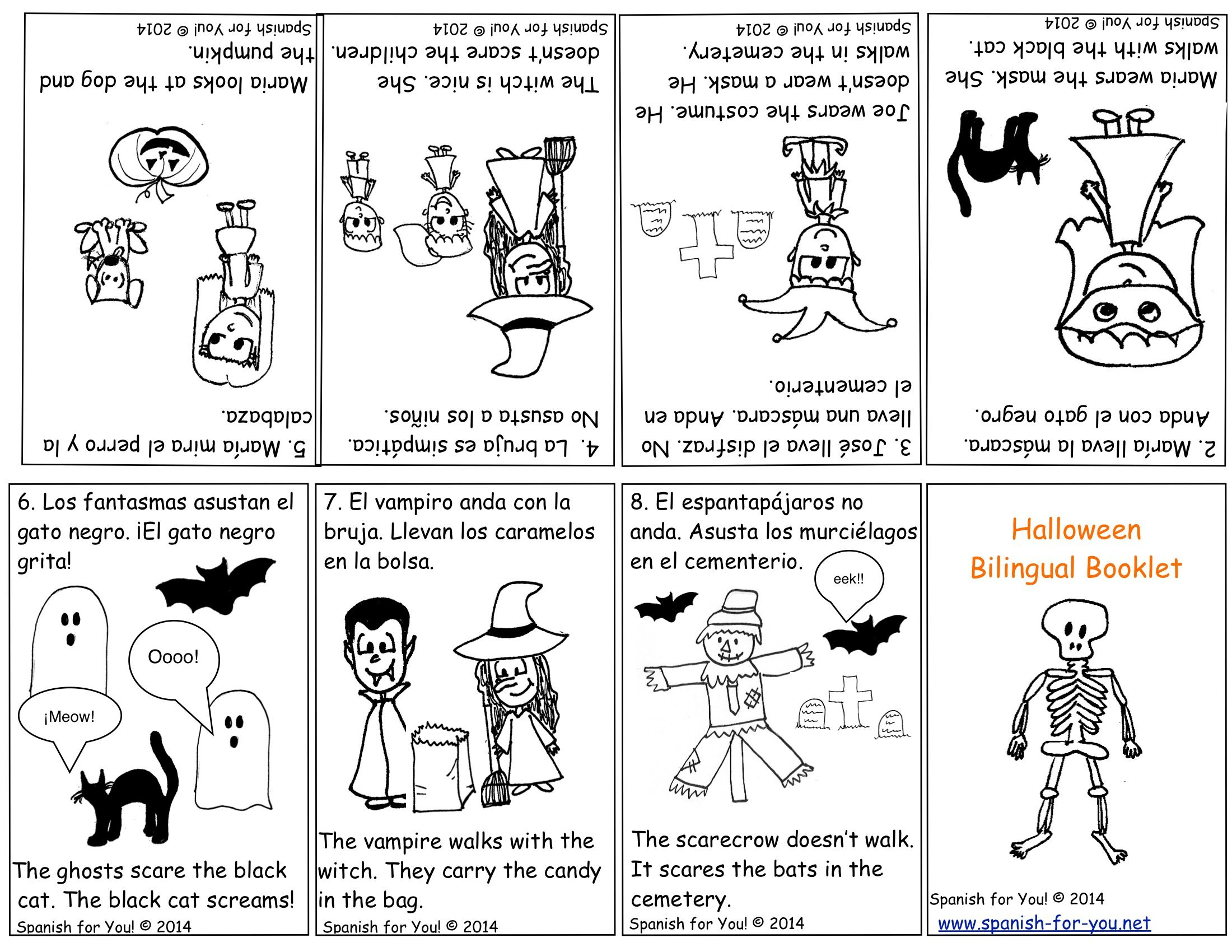Page Downloadable Spanish Halloween Lesson For Kids Grades